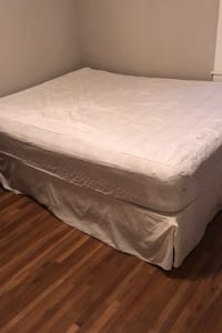 Mattress with box spring and frame