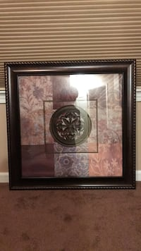 Brown, gray, and beige floral embossed wall decor 379 mi