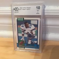 NFL player trading card collection. Mint condition