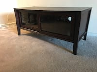 BEAUTIFUL DARK WOOD TV STAND Silver Spring