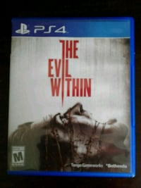 The Evil Within PS4 game case Monroe, 48161