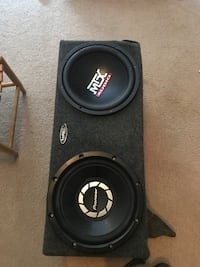 black Pioneer and MTX Audio dual subwoofer Greensboro