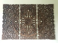 Beautiful Abacus Wood Wall Art 3-piece set Contemporary Design — $175 Washington, 20010