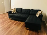 Brand new black linen sectional sofa  Silver Spring, 20902