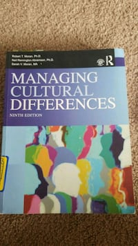 Text Book -  Managing Cultural Differences 9th Edi Buffalo, 14209