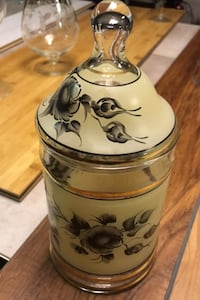 Hand painted candy jar
