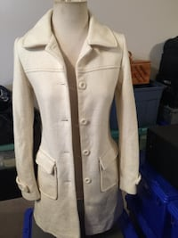 Ladies cream coloured wool coat Size S Calgary, T3K 6C5