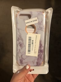 white and pink iPhone case