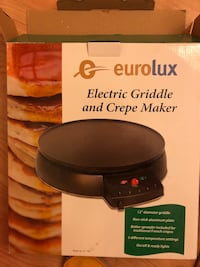 eurolax electric griddle and crepe maker Sausalito, 94965
