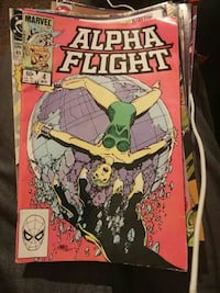 marvel Alpha Flight comic book