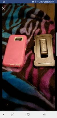 two pink and black Otter Box galaxy s6 case Berlin Heights, 44814