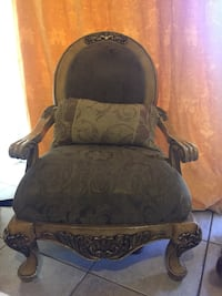 black and gray floral padded rolling armchair Hialeah, 33015