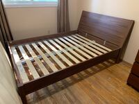 Wood bed frame  Barrie, L4M 3B9