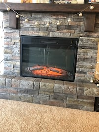 black and red electric fireplace Palatine, 60074