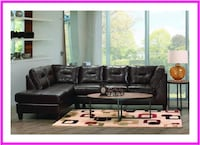 Chocolate Sectional Couch with Chaise Windsor Mill