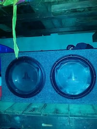 JL W1 12'' sub woofers and box