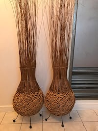 two brown wicker vases Mississauga, L5B