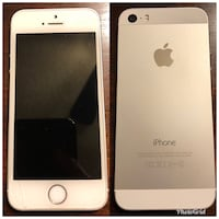 iPhone 5s white, 16gb, carrier is Verizon.
