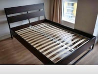 Trysil Queen bedframe and the brick queen mattress Vancouver, V6K