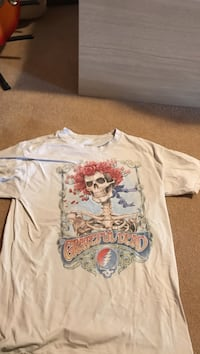 white and multicolored skeleton graphic crew-neck t-shirt Edmonton, T5T 6Y2