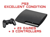 HUGE PS3 BUNDLE! 23 games + 3 wireless controllers Toronto
