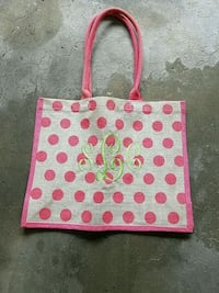 pink and white polka dot tote bag Fairfax, 22033
