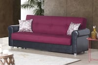 EUROPEAN BURGUNDY SOFA BED WITH UNDERNEATH STORAGE NEW !!! Clifton, 07013