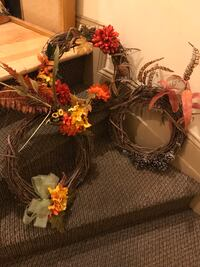 3 Fall / Autumn / Winter Wreaths Baltimore, 21202