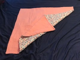 Coral triangles cotton and gauze blanket