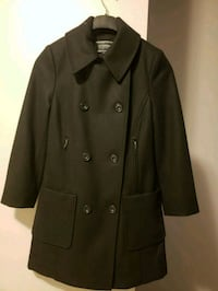 black double-breasted coat Milton, L9T 7C5