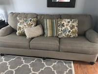 gray fabric 3-seat sofa with throw pillows Indian Trail, 28079