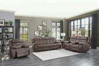 Atel Brown Double Reclining Living Room Set | 9989 Houston, 77036