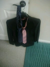 Large Suit jacket with two ties.