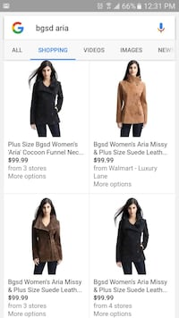 suede coat (new with tags)