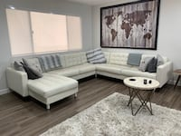 White Leather Couch Downey, 90242