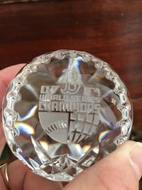 2007 World Series Waterford Crystal paperweight Boston, 02118