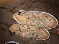 Pair of brown gucci sneakers Gatineau, J8Z 3A9