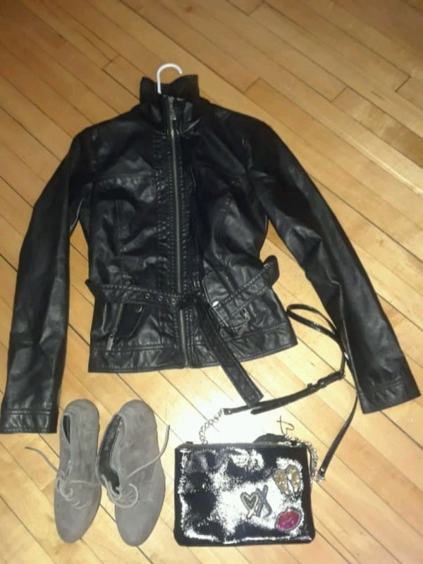 leather jacket Victoria's Secret and boo $40 dcc48f82-adf3-4180-8cd3-997ef03a74ab