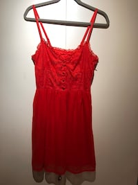 Red spaghetti strap mini dress Vancouver, V6B