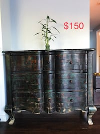 black wooden 3-drawer chest Los Angeles, 91303