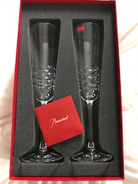 Two clear glass baccarat glasses with box Washington, 20009