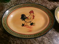 Two Rooster Serving platters 332 mi