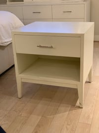 white wooden single drawer side table Washington