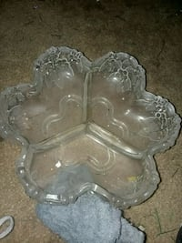 clear glass floral embossed tray Mesa, 85212