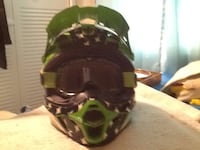 green and black camouflage helmet Severn, 21144