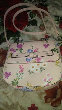 white and pink floral leather crossbody bag Fresno, 93702