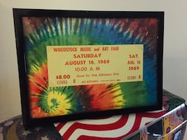 GREAT GIFT- REAL 1969 WOODSTOCK TICKET w COA