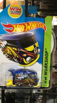 yellow, black, and orange floral Hot Wheels Volkswagen vehicle scale model Whittier, 90602