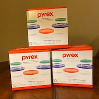$15 EACH Pyrex Glass Storage Set 10 pieces- 5 containers and 5 lids Clinton, 20735