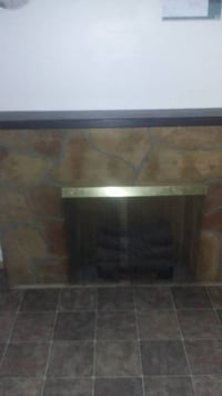 Faux Stone Fireplace with Heater Midland